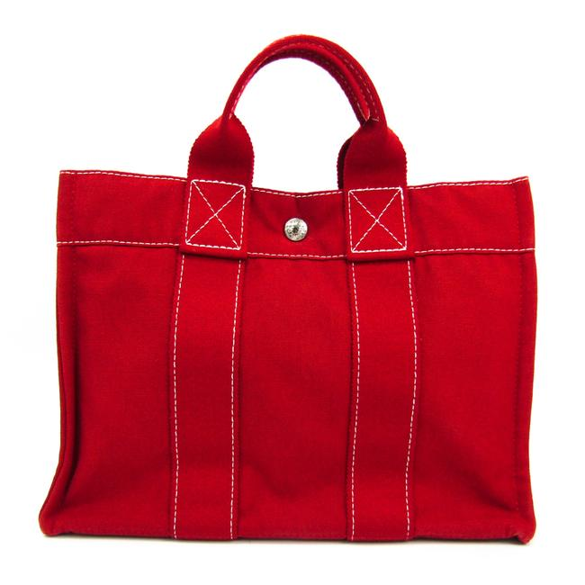 Item - Deauville Bag Women's Red Color Cotton Tote