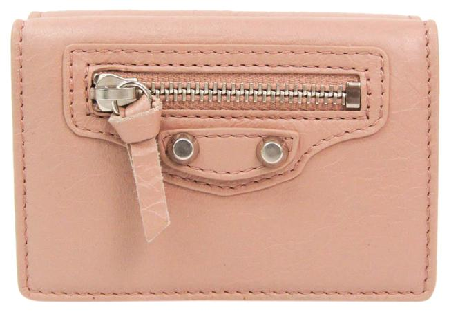 Item - Pink Beige Classic Mini 477455 Women's Leather (Tri-fold) Wallet