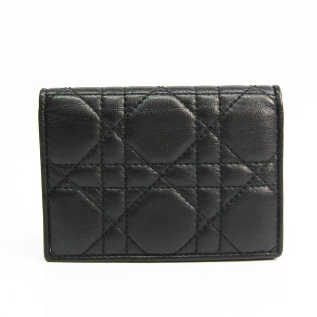 Item - Black Canage Leather Card Case Wallet