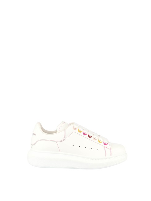 Item - White Oversize In Calf Leather Sneakers Size EU 39 (Approx. US 9) Regular (M, B)