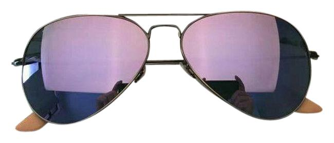 Item - Bronze Copper Frame Lilac Lens Aviator Rb3025 58mm Sunglasses
