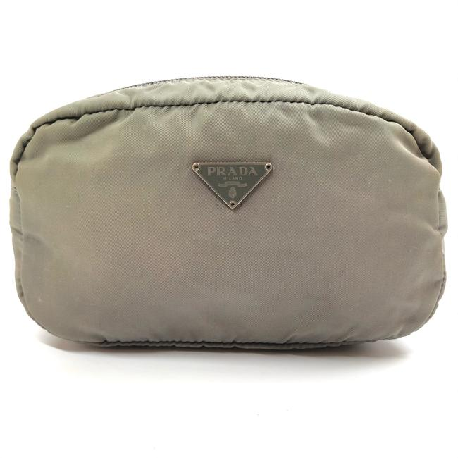 Item - Green W Womens Nylon Mini Pouch / / Toilet Logo Cosmetic Bag