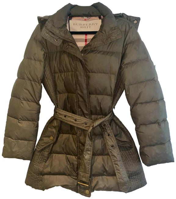 Item - Olive Green Goose Feather Down Jacket Coat Size 8 (M)