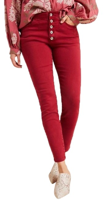 Item - Red Pilcro and The Letterpress Button-fly High-rise In Skinny Jeans Size OS