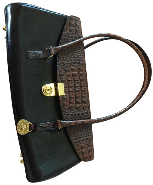 Item - Black and Brown Leather Satchel