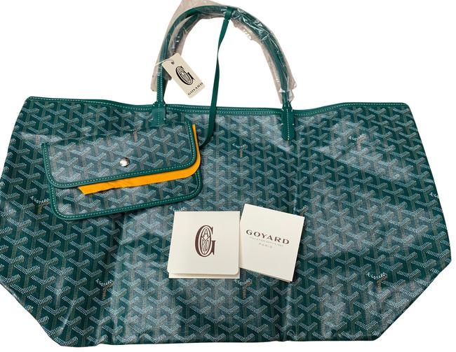 Item - Classic St. Louis Gm Green Coated Canvas Tote