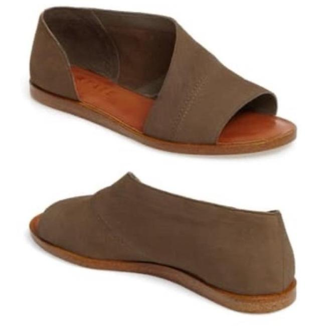 Item - Brown Celvin D'orsay In Grasshopper Nubuck Leather Sandals Size US 8 Regular (M, B)