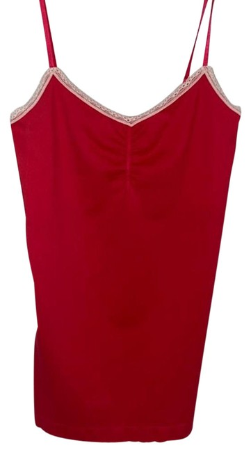Item - Red XS Vs Shirt Built In Bra Stretchy Lace Trim Tank Top/Cami Size 2 (XS)