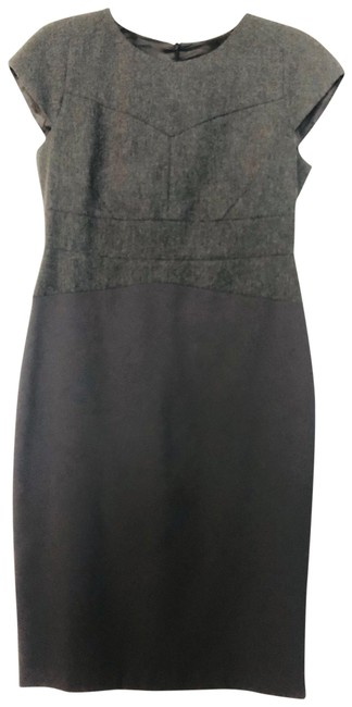 Item - Gray Wool Blend Classic Mid-length Work/Office Dress Size 12 (L)