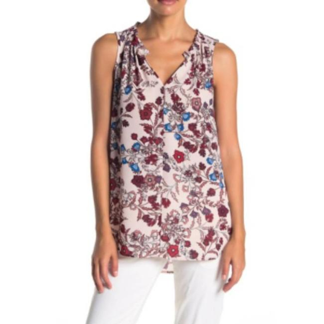 Item - Pink Floral Print Sleeveless S Blouse Size 4 (S)