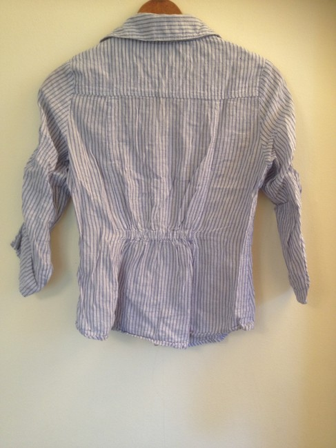 Papaya Striped Button Down Shirt Blue