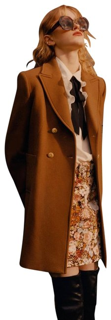 Item - Tan Brown XS Double Breasted Wool Blend Coat Size 2 (XS)