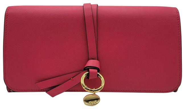 Item - Hot Pink Long Leather Continental with Gold Ring Chc16wp715h1z6p1 Wallet