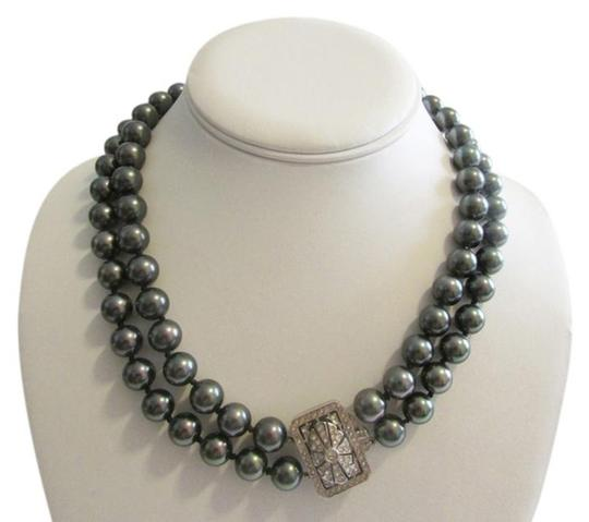 Preload https://item3.tradesy.com/images/pearlfection-black-faux-tahitian-south-sea-pearl-necklace-2862712-0-1.jpg?width=440&height=440