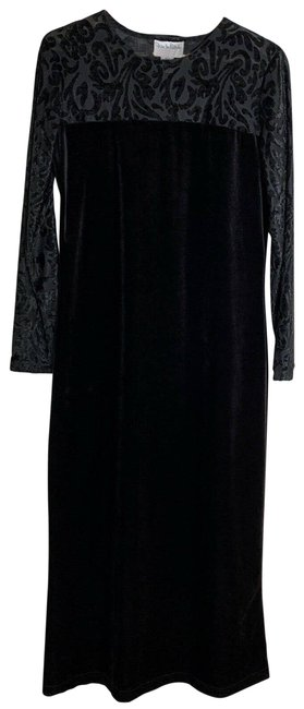 Item - Black Floral Embroidered S Casual Maxi Dress Size 4 (S)