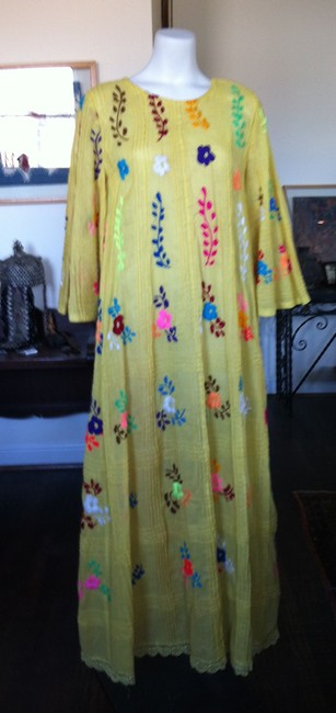 Yellow Maxi Dress by Made In Panama Imported Flowy