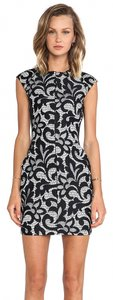 Dolce Vita short dress Black/White Bonded Lace on Tradesy