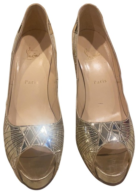 Item - Gold Very Galaxy Miroire Platforms Size EU 39 (Approx. US 9) Narrow (Aa, N)