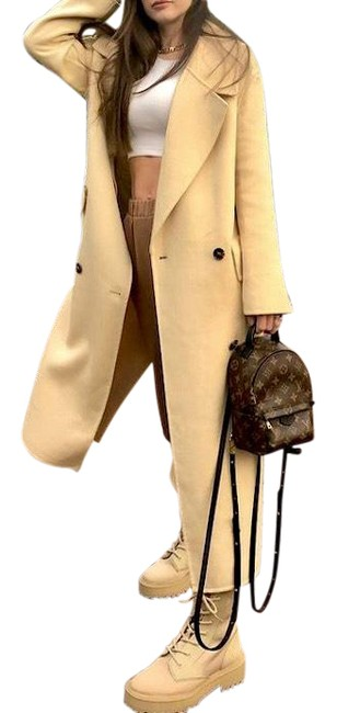 Item - Creamy Butter Yellow Limited Edition Wool Double Breasted Coat Size 4 (S)