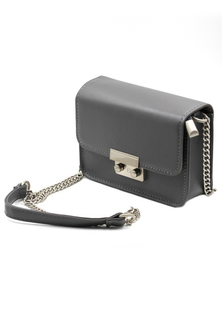Item - Small Purse Gray Faux Leather Shoulder Bag