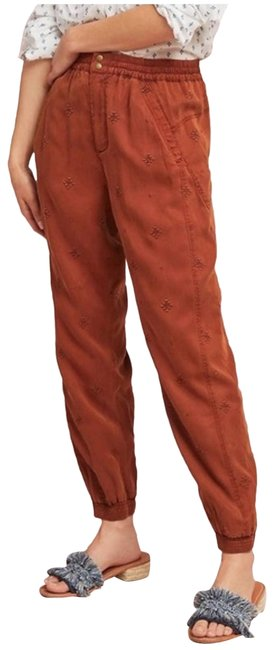 Item - Red Rowan Embroidered Joggers Activewear Bottoms Size 0 (XS, 25)