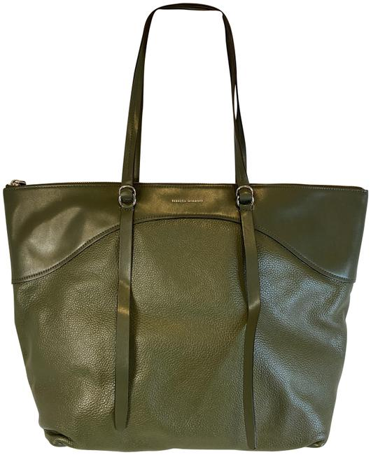 Item - Signature Top Zip Tote Hunter Leather Shoulder Bag