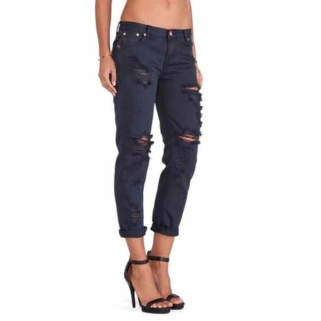 Item - Blue Awsome Baggie Distressed Relaxed Fit Jeans Size 25 (2, XS)