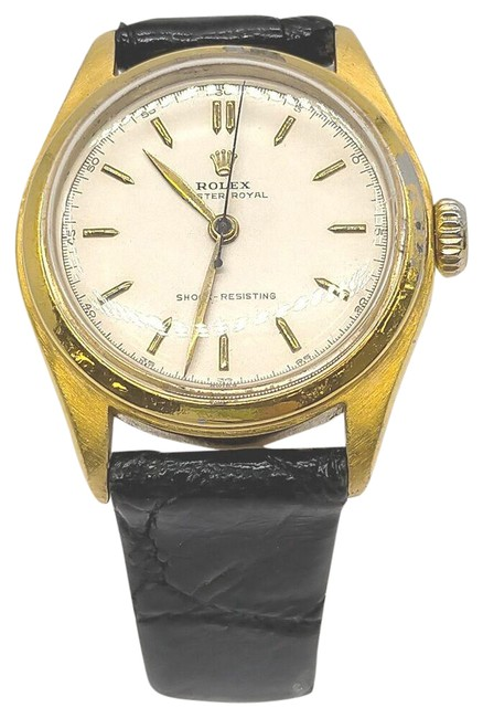 Item - Black 31mm Gold Plated Oyster Royal 863013 Watch