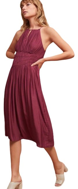 Item - Purple Moulinette Soeurs Plum Halter Mid-length Cocktail Dress Size 4 (S)