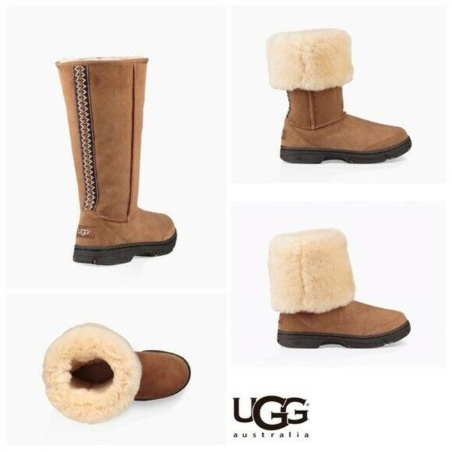 Item - Chestnut Brown Ultimate Braid Tall Genuine Shearling Boots/Booties Size US 6 Regular (M, B)