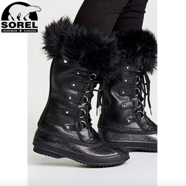 Sorel Black Joan Of Arctic Lux Waterproof Winter Boots/Booties Size US 6 Regular (M, B) Sorel Black Joan Of Arctic Lux Waterproof Winter Boots/Booties Size US 6 Regular (M, B) Image 1