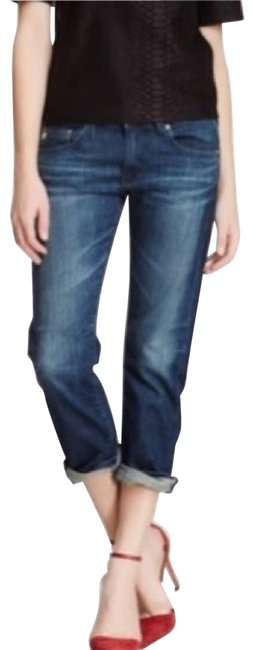 Item - Blue Medium Wash The Tomboy Crop Relaxed Cropped Straight Leg Jeans Size 29 (6, M)