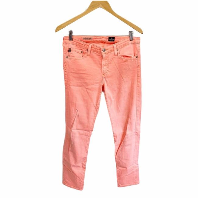 Item - Orange Pink Acid Neon Sherbet Stevie Ankle Pants Size 28 (Plus 3x)