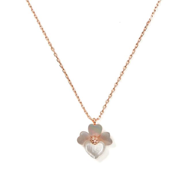 Item - Rose Gold Precious Pansy Necklace