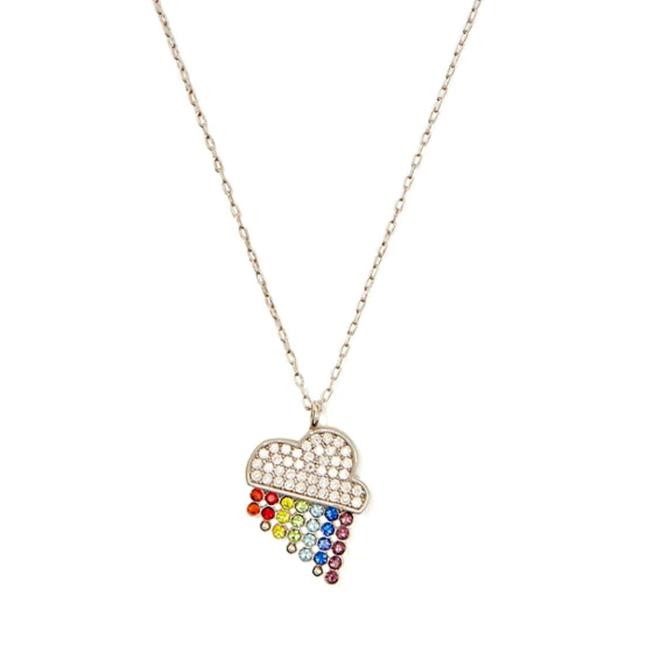 Item - Silver Into The Sky Rainbow Necklace