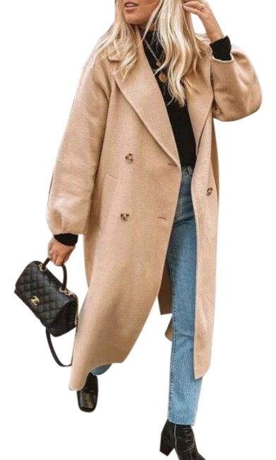 Item - Cream Beige Limited Edition Wool Double Breasted Coat Size 4 (S)