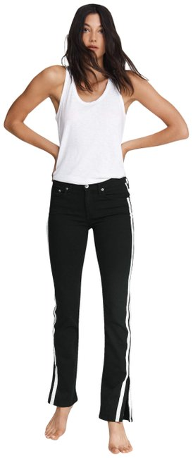 Item - Black Cate Striped Mid Rise Flare Leg Jeans Size 26 (2, XS)