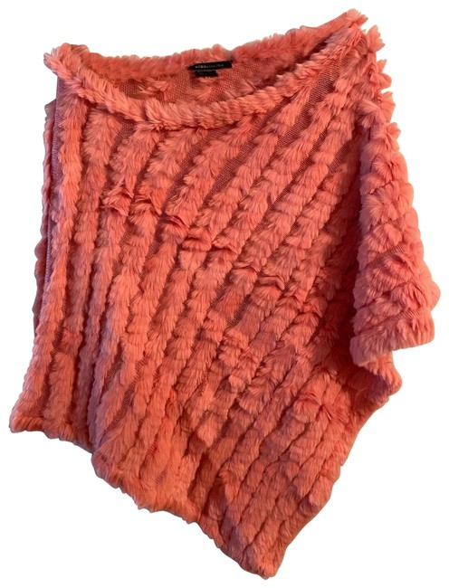 Item - Pink Rabbit Fur Poncho/Cape Size OS (one size)
