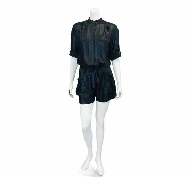 Item - Black Micro-wet Romper/Jumpsuit Romper/Jumpsuit