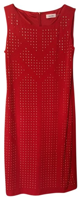 Item - Red Mid-length Formal Dress Size 10 (M)