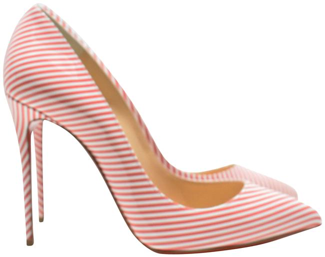 Item - Red White Candy Pigalle Follies 100mm Striped Heels Pumps Size EU 39 (Approx. US 9) Regular (M, B)