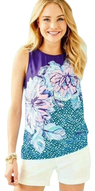 Item - Blue Iona Sleeveless Mr Peacock Plant One On Me Tank Top/Cami Size 4 (S)