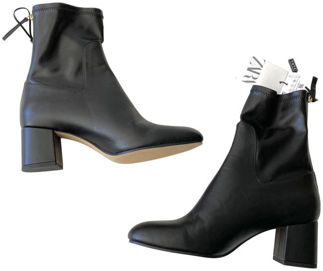 Item - Black Synthetic Leather Ankle Boots/Booties Size US 7.5 Regular (M, B)