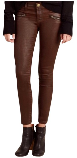 Item - Brown Coated Soho Zip Skinny Jeans Size 2 (XS, 26)