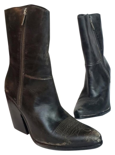 Item - Black Candy Bike Leather Mid Boots/Booties Size EU 36 (Approx. US 6) Regular (M, B)