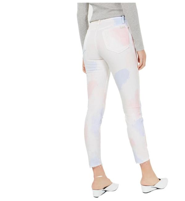 JOE'S Jeans White Pink The Charlie High Rise Skinny Crop Tie Dye Capri/Cropped Jeans Size 10 (M, 31) JOE'S Jeans White Pink The Charlie High Rise Skinny Crop Tie Dye Capri/Cropped Jeans Size 10 (M, 31) Image 2