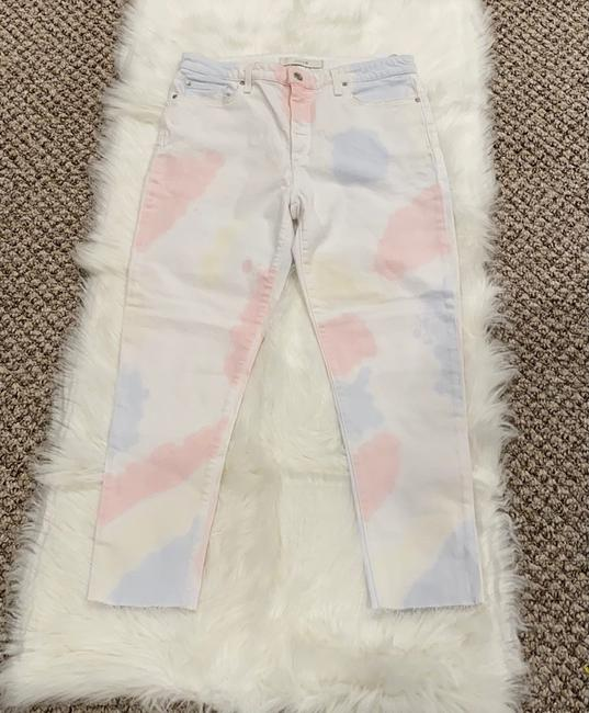 JOE'S Jeans White Pink The Charlie High Rise Skinny Crop Tie Dye Capri/Cropped Jeans Size 10 (M, 31) JOE'S Jeans White Pink The Charlie High Rise Skinny Crop Tie Dye Capri/Cropped Jeans Size 10 (M, 31) Image 3