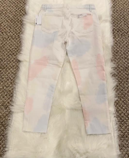 JOE'S Jeans White Pink The Charlie High Rise Skinny Crop Tie Dye Capri/Cropped Jeans Size 10 (M, 31) JOE'S Jeans White Pink The Charlie High Rise Skinny Crop Tie Dye Capri/Cropped Jeans Size 10 (M, 31) Image 4