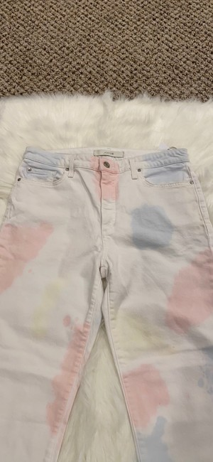 JOE'S Jeans White Pink The Charlie High Rise Skinny Crop Tie Dye Capri/Cropped Jeans Size 10 (M, 31) JOE'S Jeans White Pink The Charlie High Rise Skinny Crop Tie Dye Capri/Cropped Jeans Size 10 (M, 31) Image 5