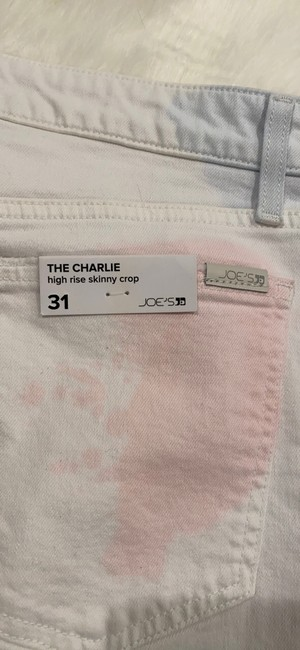 JOE'S Jeans White Pink The Charlie High Rise Skinny Crop Tie Dye Capri/Cropped Jeans Size 10 (M, 31) JOE'S Jeans White Pink The Charlie High Rise Skinny Crop Tie Dye Capri/Cropped Jeans Size 10 (M, 31) Image 8